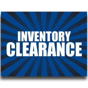 """Clearance""Lawn Signs"