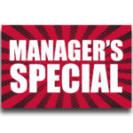 """[""""Manager's Special""""] Large, Car Topper Foamcore Mounted Decals (14″x22″) 1"""