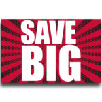 """[""""Save BIG""""] Large, Car Topper Foamcore Mounted Decals (14″x22″) 1"""