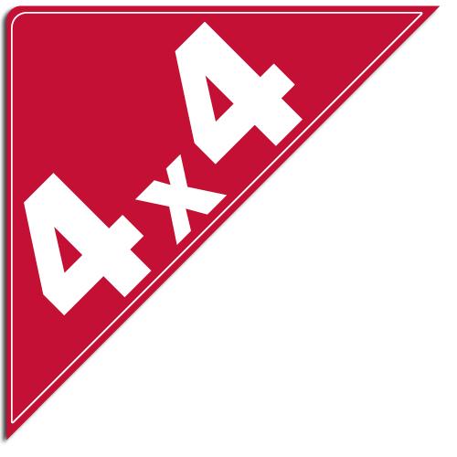 """[""""4X4""""] Standard, Corner Windshield Decals (12""""x12""""x17"""")"""