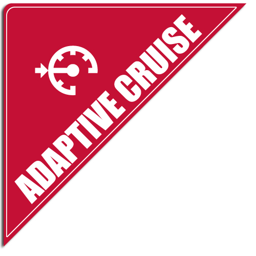 "[""Adaptive Cruise""] Standard, Corner Windshield Decals (12""x12""x17"")"