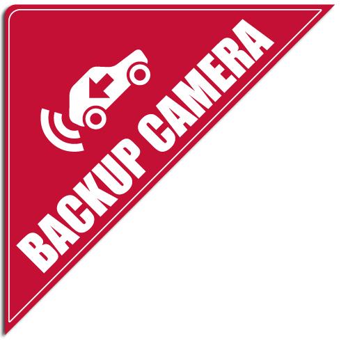 "[""Backup Camera""] Standard, Corner Windshield Decals (12""x12""x17"")"