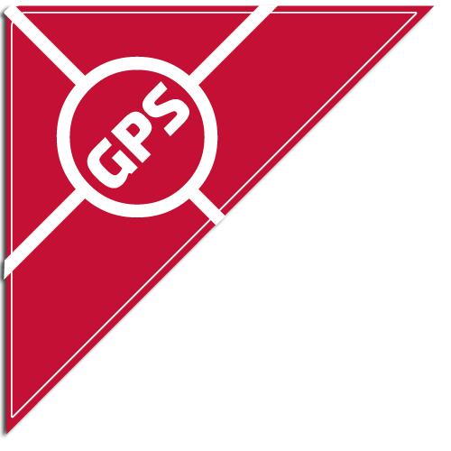 """[""""GPS""""] Standard, Corner Windshield Decals (12""""x12""""x17"""")"""