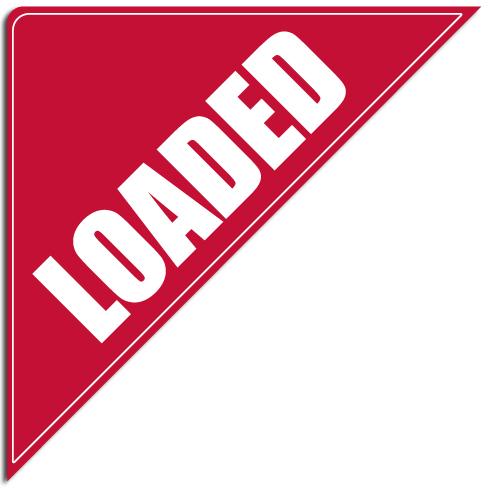 "[""Loaded""] Standard, Corner Windshield Decals (12""x12""x17"")"