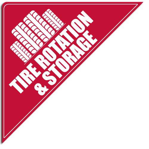 """[""""Tire Rotation & Storage""""] Standard, Corner Windshield Decals (12""""x12""""x17"""")"""