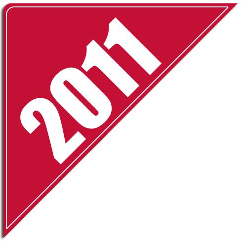 """[""""2011""""] Standard, Corner Windshield Decals (12""""x12""""x17"""")"""