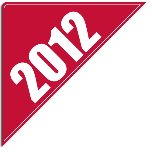 """[""""2012""""] Standard, Corner Windshield Decals (12""""x12""""x17"""")"""