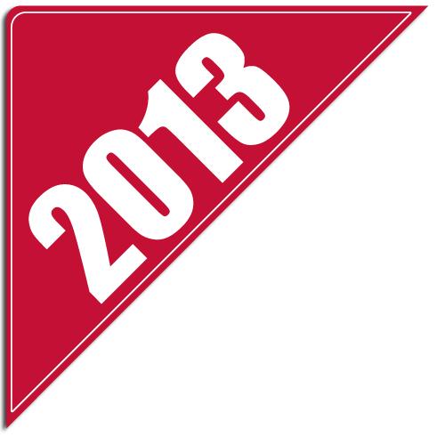 """[""""2013""""] Standard, Corner Windshield Decals (12""""x12""""x17"""")"""