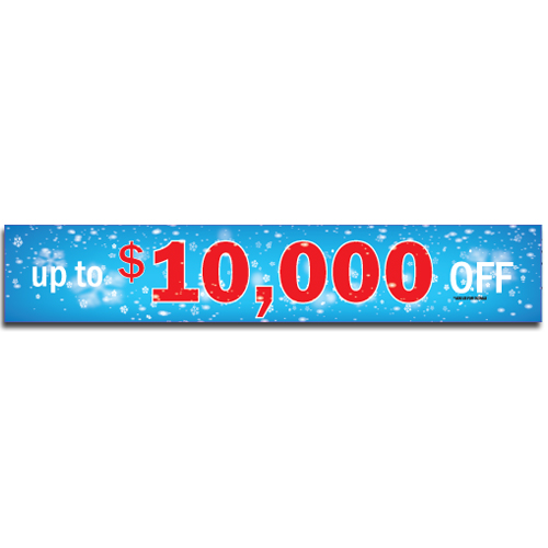 "[""Up to $10,000 OFF""] Standard, Half Windshield Decals (4""x22"")"