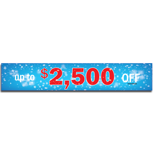 "[""Up to $2,500 OFF""] Standard, Half Windshield Decals (4""x22"")"