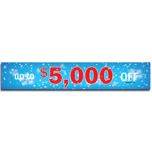 "[""Up to $5,000 OFF""] Standard, Half Windshield Decals (4""x22"")"
