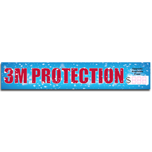 "[""3M Protection""] Standard, Half Windshield Decals (4""x22"")"