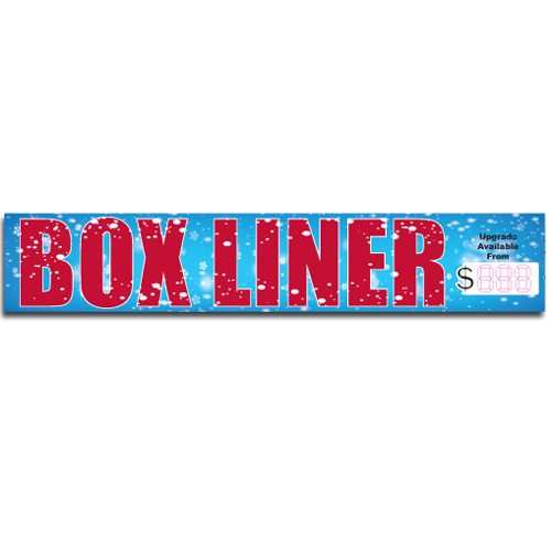 "[""Box Liner""] Standard, Half Windshield Decals (4""x22"")"