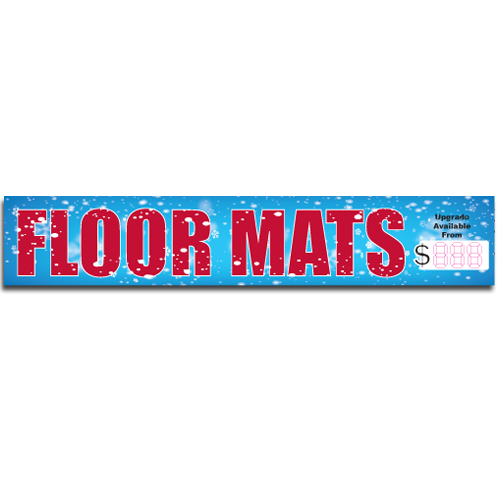"[""Floor Mats""] Standard, Half Windshield Decals (4""x22"")"
