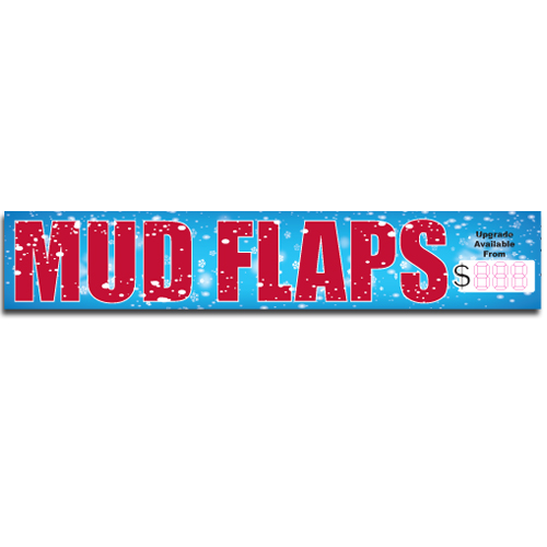 "[""Mud Flaps""] Standard, Half Windshield Decals (4""x22"")"