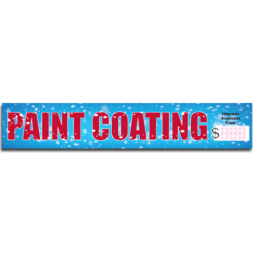"[""Paint Coating""] Standard, Half Windshield Decals (4""x22"")"