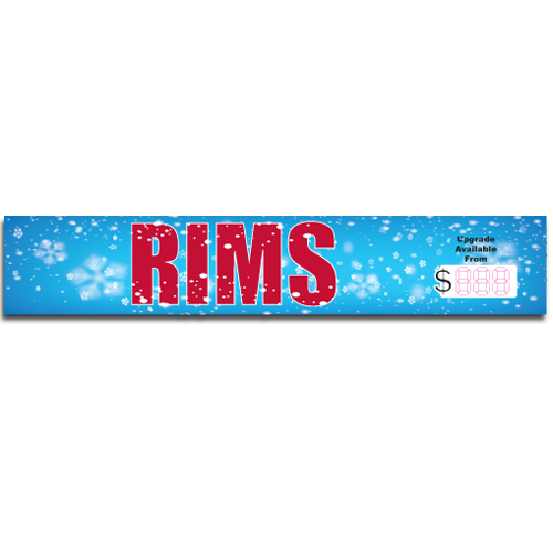 "[""Rims""] Standard, Half Windshield Decals (4""x22"")"