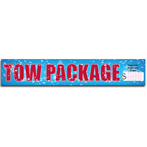 "[""Tow Package""] Standard, Half Windshield Decals (4""x22"")"