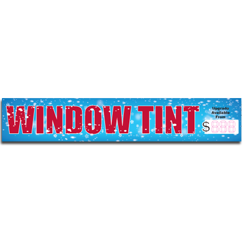 "[""Window Tint""] Standard, Half Windshield Decals (4""x22"")"