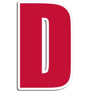 [D] Impact Vinyl Letter