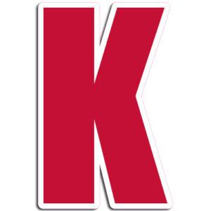 [K] Impact Vinyl Letter
