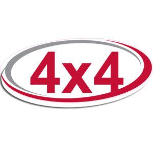 "[""4X4""] Standard, Oval Decals (6""x14"")"