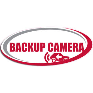 "[""Backup Camera""] Standard, Oval Decals (6""x14"")"