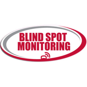 "[""Blind Spot Monitoring""] Standard, Oval Decals (6""x14"")"