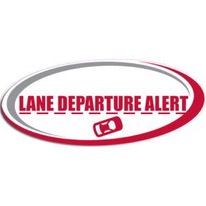 "[""Lane Departure Alert""] Standard, Oval Decals (6""x14"")"