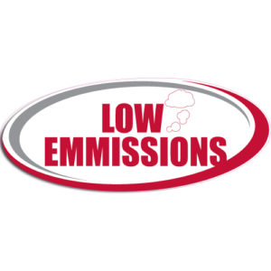 "[""Low Emmissions""] Standard, Oval Decals (6""x14"")"