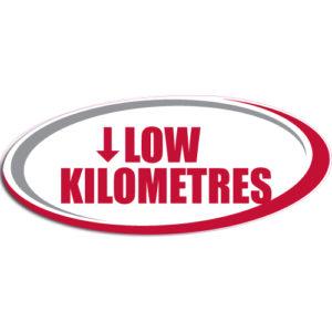 "[""Low Kilometres""] Standard, Oval Decals (6""x14"")"