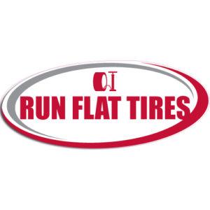 "[""Run Flat Tires""] Standard, Oval Decals (6""x14"")"