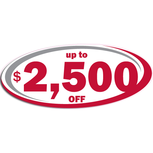"[""Up to $2,500 OFF""] Standard, Oval Decals (6""x14"")"