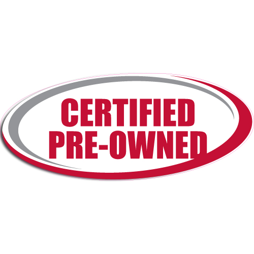 "[""Certified Preowned""] Standard, Oval Decals (6""x14"")"