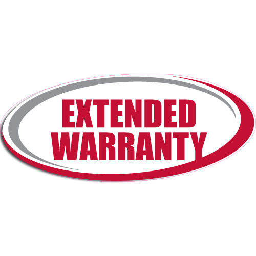 """[""""Extended Warranty""""] Standard, Oval Decals (6""""x14"""")"""