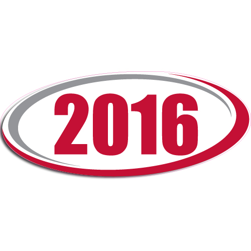 "[""2016""] Standard, Oval Decals (6""x14"")"