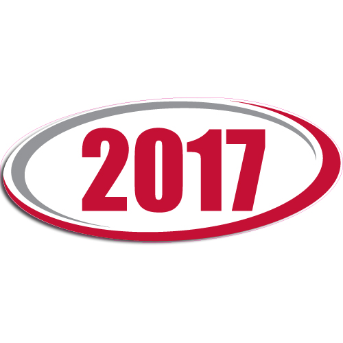 "[""2017""] Standard, Oval Decals (6""x14"")"