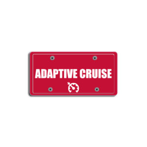 """Adaptive Cruise""Plate Decals"