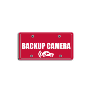 """Backup Camera""Plate Decals"