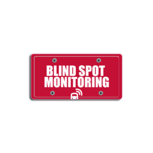 """""""Blind Spot Monitoring""""Plate Decals"""