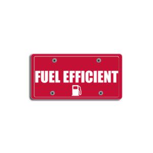 """Fuel Efficient""Plate Decals"