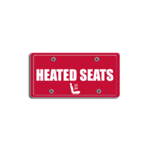 """""""Heated Seats""""Plate Decals"""
