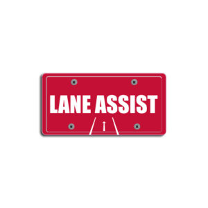 """""""Lane Assist""""Plate Decals"""