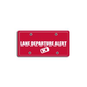 """""""Lane Departure Alert""""Plate Decals"""