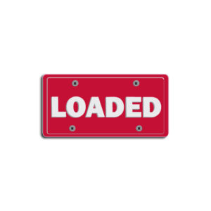 """""""Loaded""""Plate Decals"""