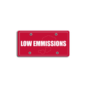 """""""Low Emmissions""""Plate Decals"""
