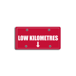 """""""Low Kilometres""""Plate Decals"""