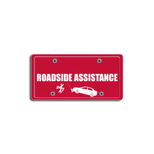 """""""Roadside Assistance""""Plate Decals"""