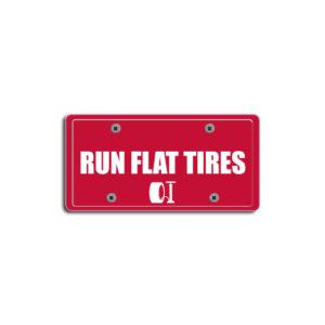 """Run Flat Tires""Plate Decals"