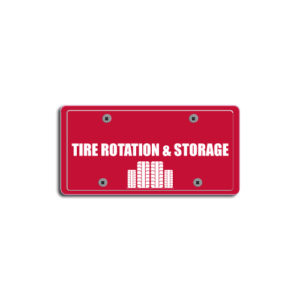 """""""Tire Rotation & Storage""""Plate Decals"""